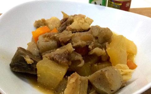 【牛すじ肉の土手煮の作り方】味がしっかり染み込んだ、牛すじ肉の大阪風どて焼の料理レシピ♪