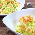 【キャベツと人参のコールスローサラダ】料理レシピ♪作り置きができるので、アレンジ料理にも♪