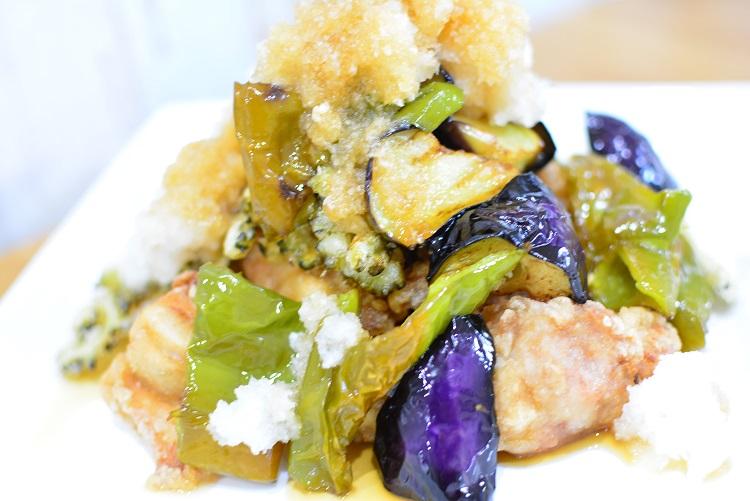 簡単なのに豪華♬揚げ鶏と夏野菜のおろしダレ★のレシピ