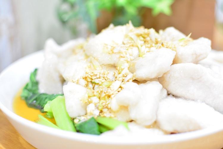 ネギたっぷり♬つるつる食感の中華風水晶鶏のレシピ★