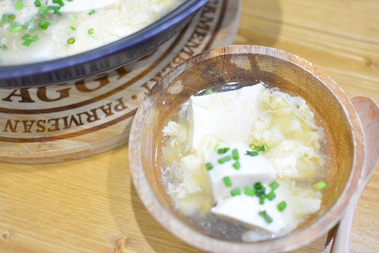 胃腸に優しい♬ふわふわ豆腐のあんかけスープのレシピ★