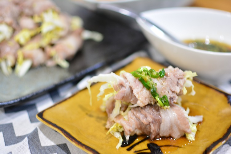 レンジで作る♬簡単白菜の豚巻き蒸しのレシピ★