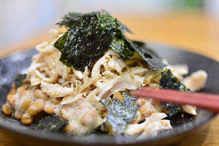 おつまみに♬ダイエットに♬ささみで納豆のレシピ★
