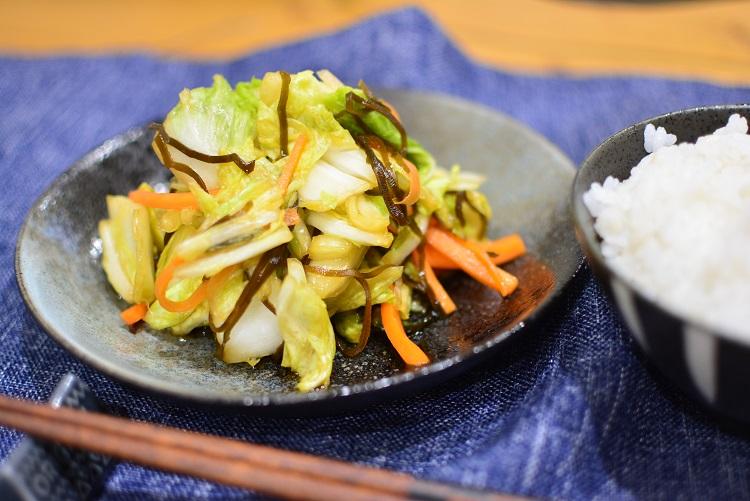 白菜使い切り♬白菜の松前漬け風浅漬けサラダのレシピ★